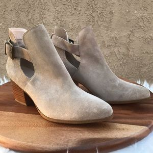 """Sole Society """"Olive"""" Coffee Suede Booties 9"""